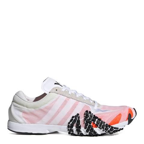 adidas Y-3 White/Orange Rehito Mesh Sneakers
