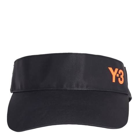 Y-3 Black Logo Print Visor