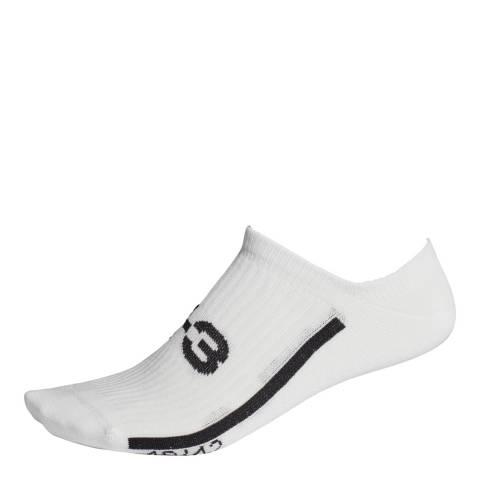 Y-3 White Black No Show Socks