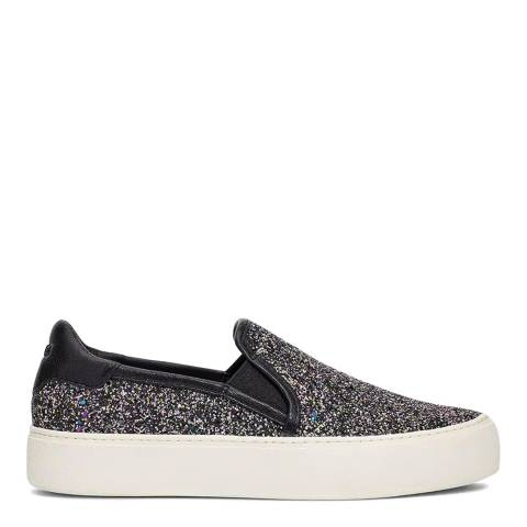 UGG Black Glitter Jass Chunky Slip On Trainers