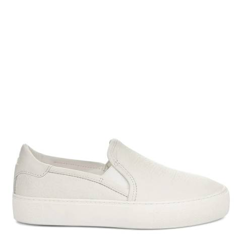 UGG White Jass Leather Slip On Trainers