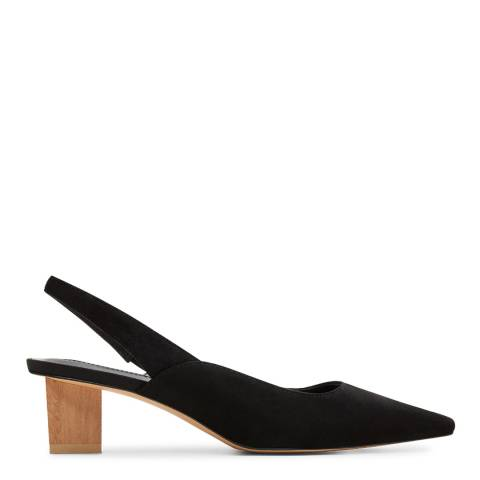 Mango Black Crose Slip On Heeled Shoes