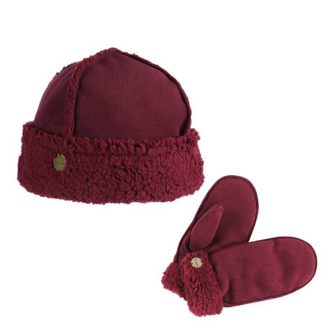Regatta Burgundy Corbina Hat & Mitt Set