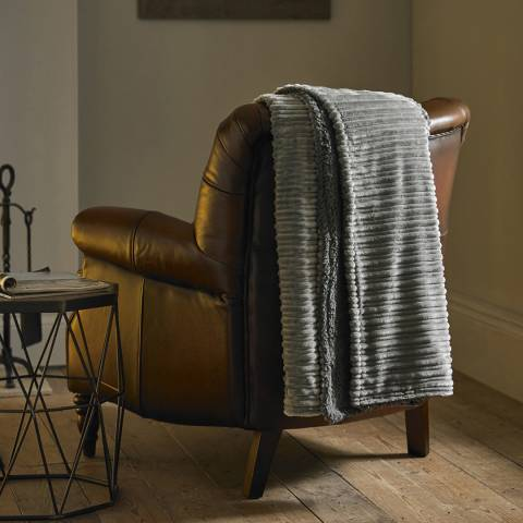 Deyongs Ribchester Faux Fur Throw, Dove