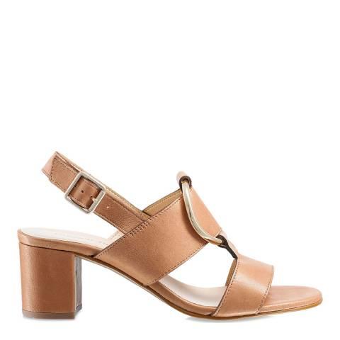 Russell & Bromley Tan Trick Block Heel Sandals