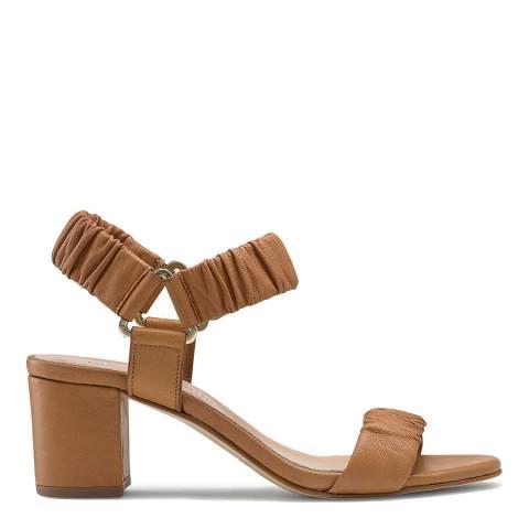 Russell & Bromley Tan Campus Block Heel Sandals