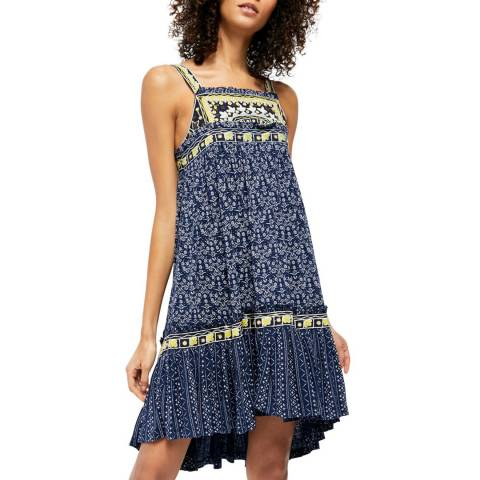 Free People Blue Borderline Tank Dress