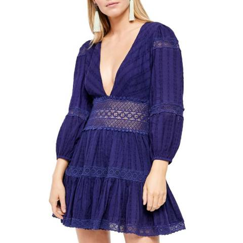 Free People Bright Navy The Delightful Mini Dress
