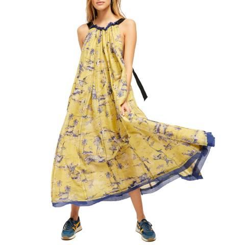Free People Multi Tropical Toile Cotton Maxi Dress