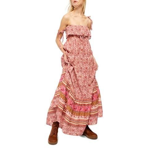 Free People Pink Tangier Babydoll Cotton Dress