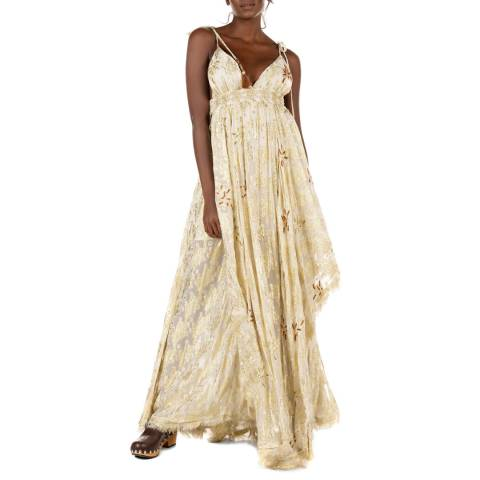 Free People Gold Meredith Maxi Dress