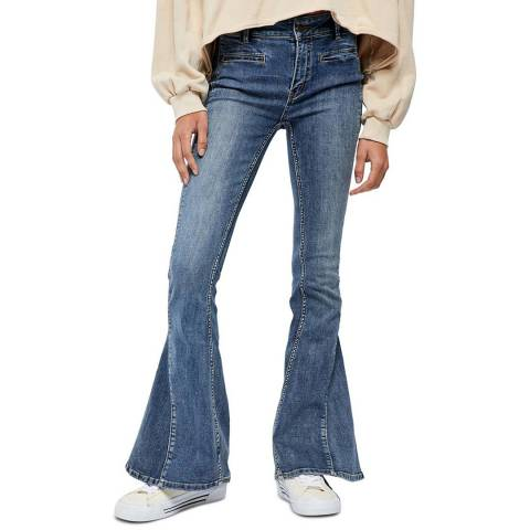 Free People Blue Dream Lover Flared Stretch Jeans