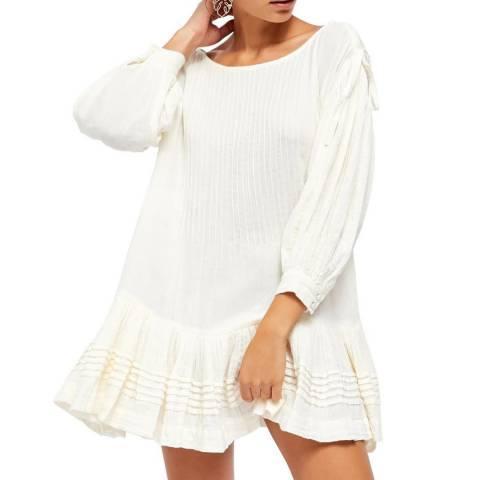 Free People White Washed Shore Mini Dress