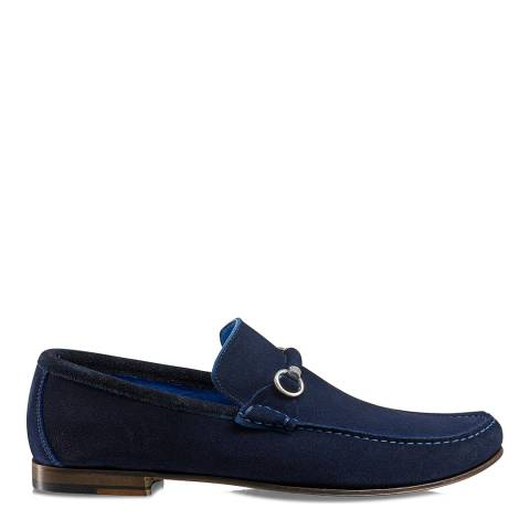 Russell & Bromley Navy Suede Misty Snaffle Loafers
