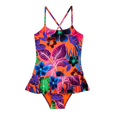 Vilebrequin Girl's Bright Orange Grilly Swimsuit