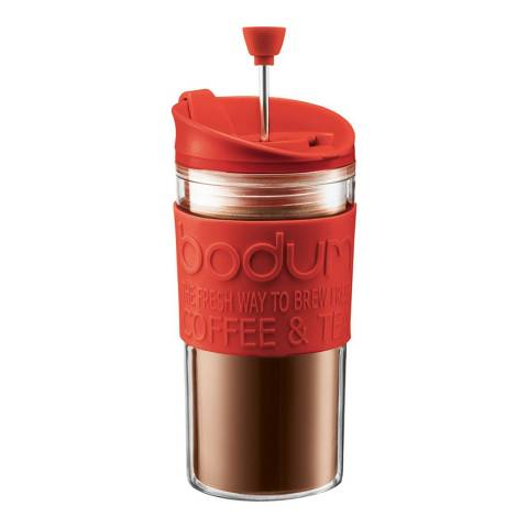 Bodum Red Coffee Maker with Extra Lid, 350ml
