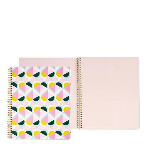 Kate Spade Large Spiral Notebook, Geo Spade