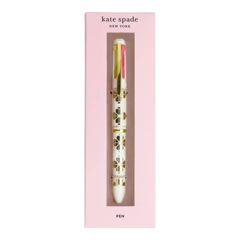 Kate Spade Gold Spade Flower Multi Click Gel Pen