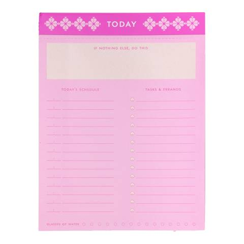 Kate Spade To Do List Pad, Neon Pink