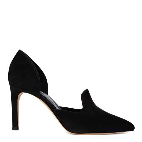 Hobbs London Navy Olivia Heeled Courts