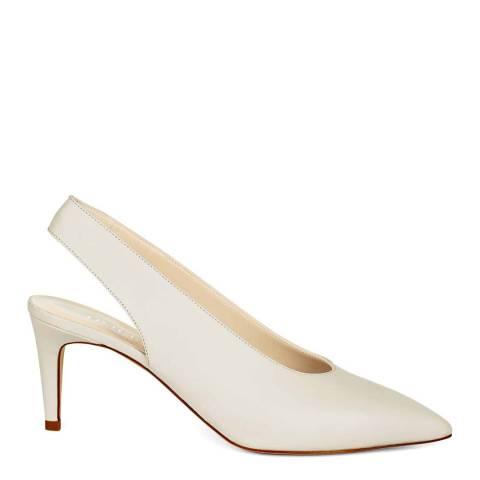 Hobbs London White Grace Slingback Heels
