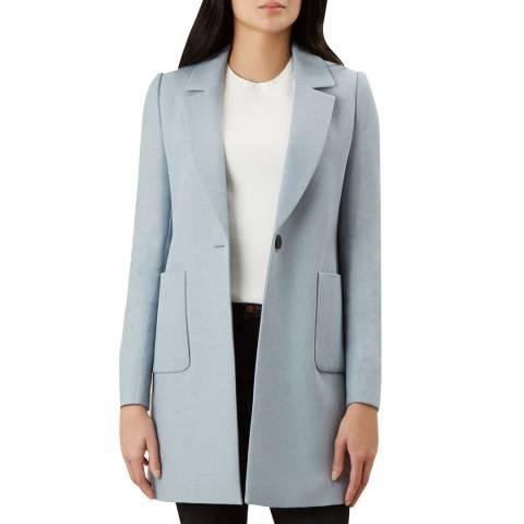 Hobbs London Blue Cemellia Coat
