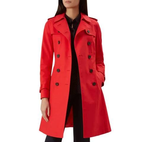 Hobbs London Red Saskia Trench Coat