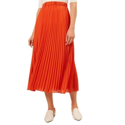 Hobbs London Orange Lilita Skirt