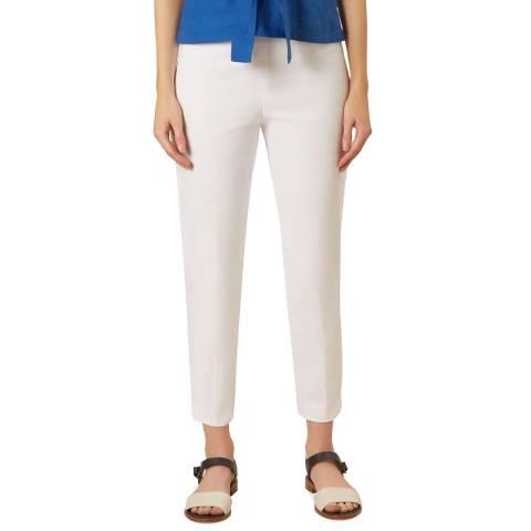 Hobbs London White Mallory Capri Trousers