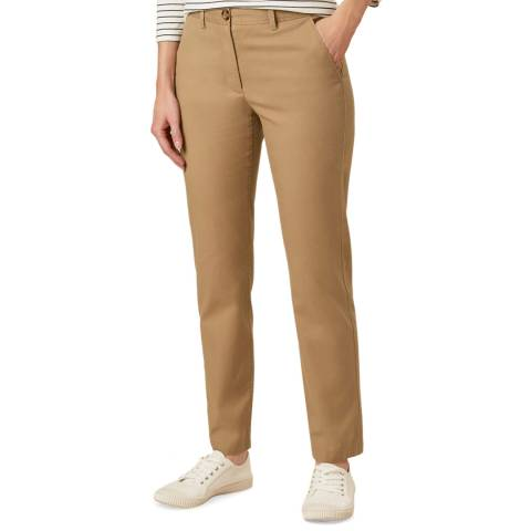Hobbs London Tan Paislyn Stretch Chinos
