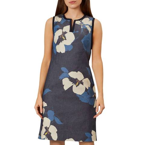 Hobbs London Navy Floral Sita Dress