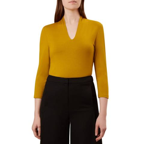 Hobbs London Yellow Aimee Top