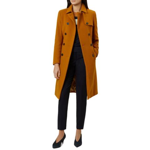 Hobbs London Rust Eleanora Wool Blend Trench Coat