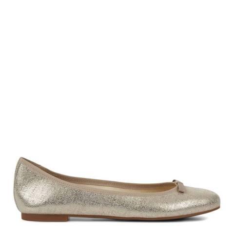 Hobbs London Gold Flo Ballerina Flats