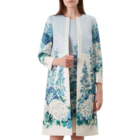 Hobbs London Blue Hydrangea Coat