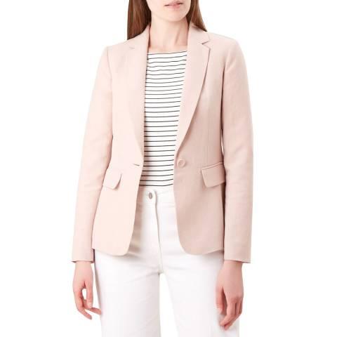 Hobbs London Pink Trent Silk/Linen Jacket