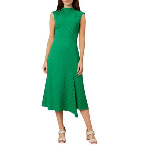Hobbs London Green Marina Dress