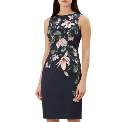 Hobbs London Navy Floral Moira Dress