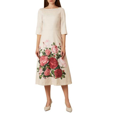 Hobbs London Pink Princess Rose Dress