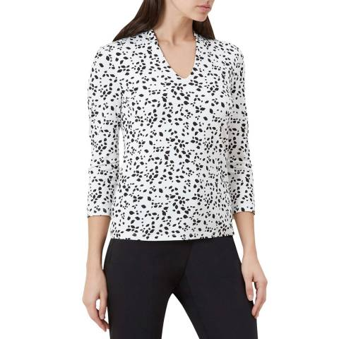 Hobbs London Black Print Aimee Top