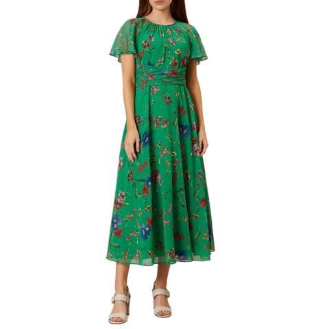 Hobbs London Green Floral Sarah Dress