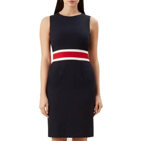 Hobbs London Navy Stripe Annabel Dress