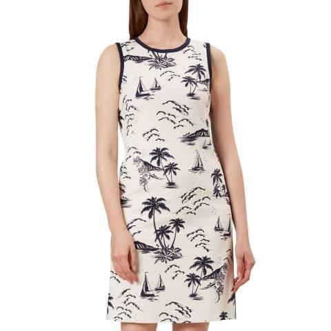 Hobbs London Ivory Print Elinor Dress