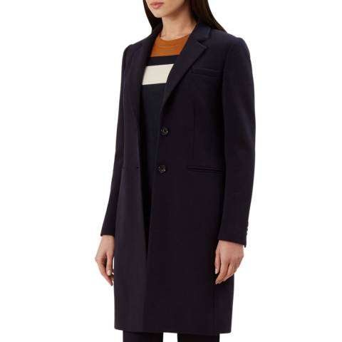 Hobbs London Navy Sprint Tilda Coat