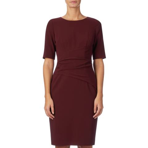 Hobbs London Burgundy Eva Dress