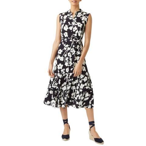 Hobbs London Navy Floral Esme Dress