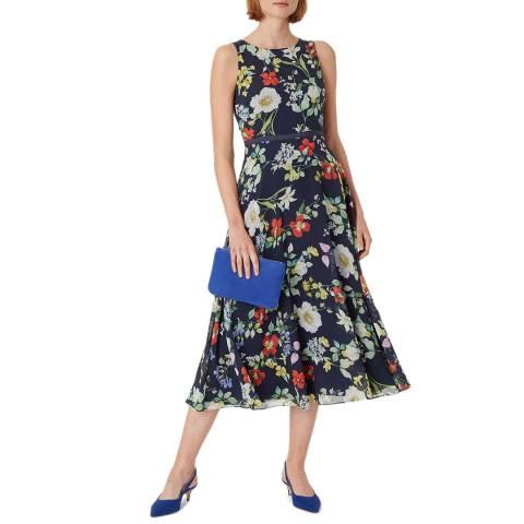 Hobbs London Navy Floral Carly Dress