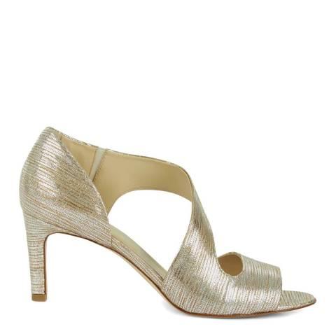 Hobbs London Gold Lexi Heeled Sandals