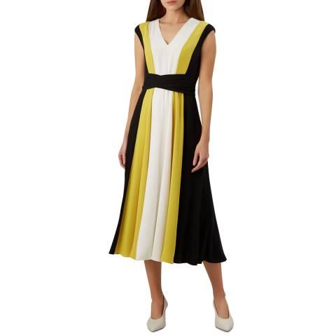 Hobbs London Black Stripe Bailly Dress