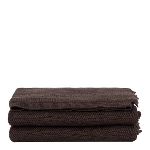 Lanerossi Brown Wool Spina Throw 130x160cm
